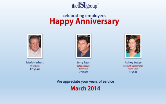 ISI Group Work Anniversaries!