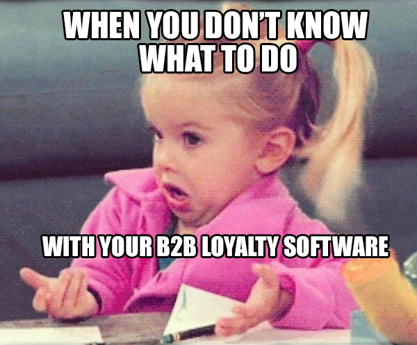 b2b software meme